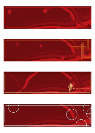 Banner or header in shades of dark red with abstract shapes. Stock Vector - 20103438