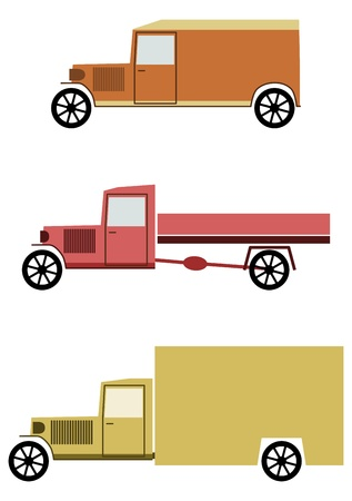 Vintage truck on a white background. Place for any text. Stock Vector - 20103453