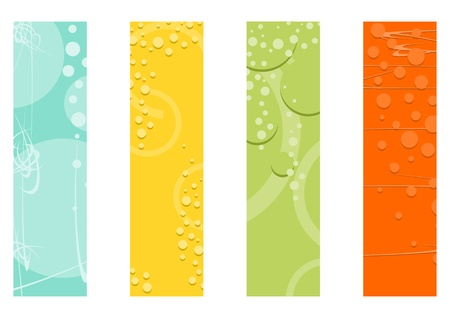 A set of backgrounds with bubbles for a wide skyscrapers banner. Vector