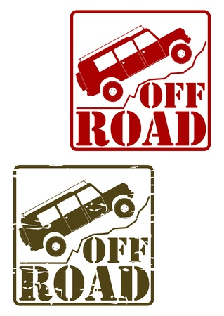 Off road stamp set Vector