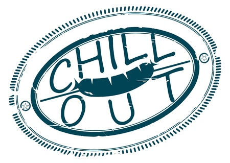 chill out: Chill out stamp