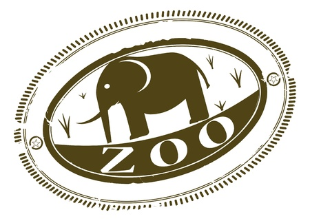 Zoo rubber stamp Stock Vector - 20534074