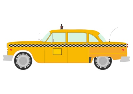 Retro yellow cab silhouette  Vector