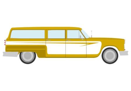 Retro station wagon  Vettoriali