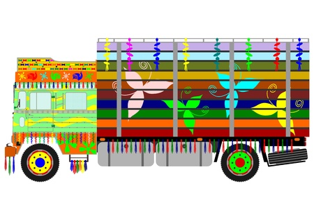 Colorful indian truck Vector