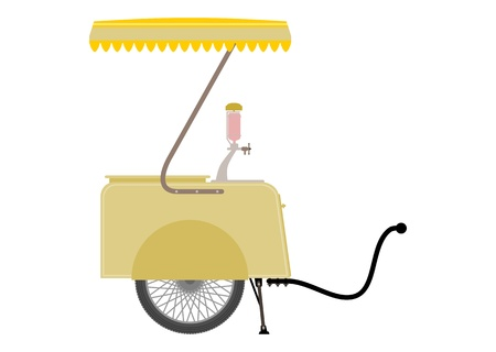 vendors: Vendors cart Illustration