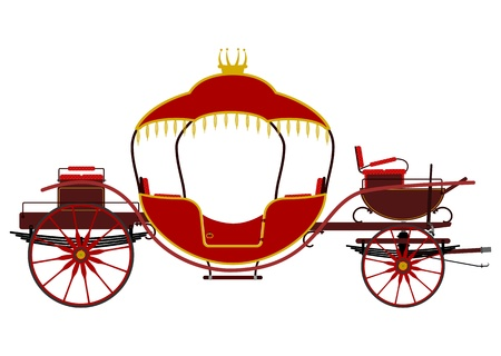 Vintage red carriage Vector