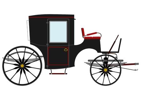 Black retro carriage Stock Vector - 21078011