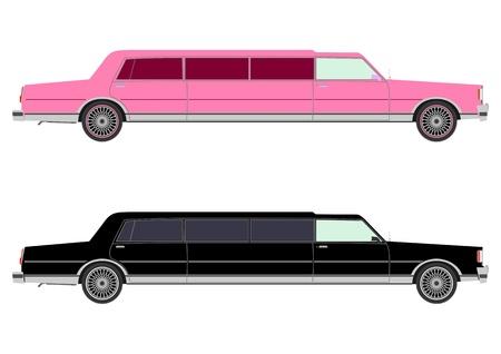 Extra long limousine set