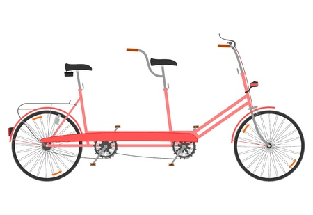 Small tandem bike Vector