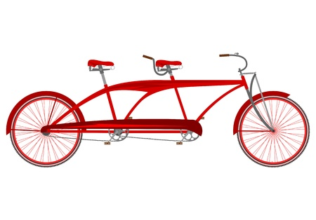 Retro tandem bike Vector