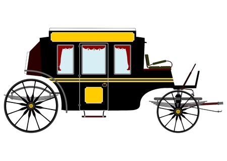 Retro carriage Stock Vector - 21439555