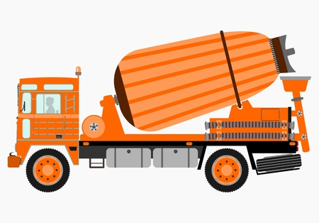Concrete mixer truck Stock Vector - 21439560