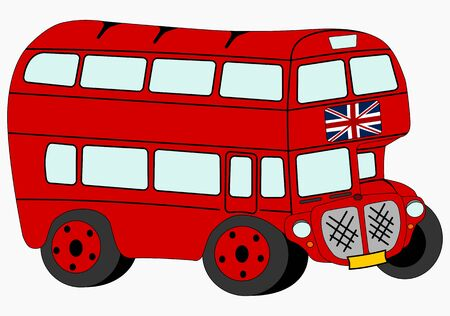 Red double decker  Vector