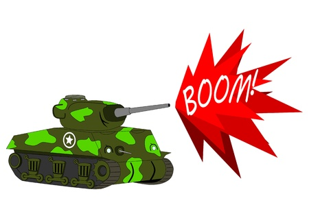 Cartoon tank Vector