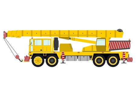 Yellow mobile crane