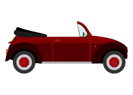cabriolet: Retro cabriolet Illustration