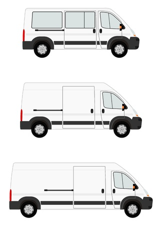 Modern van set Vector