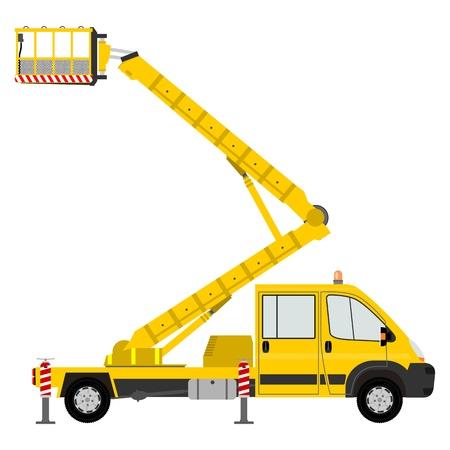 hydraulic platform: Cami�n peque�o cubo