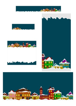 Set of winter banners Vector