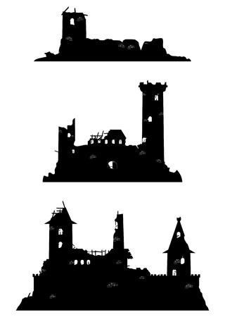 Castle ruins Vettoriali