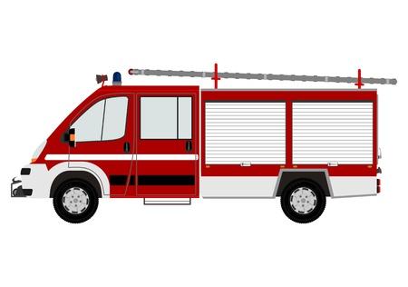 Moderne brandweerwagen