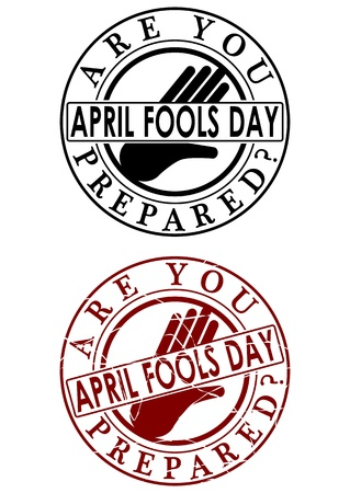 Fools day rubber stamp Vector