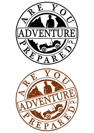 circular muscle: Adventure rubber stamp