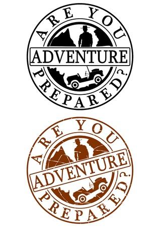 Adventure rubber stamp