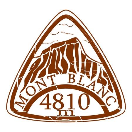 blanc: Mont Blanc stamp Illustration