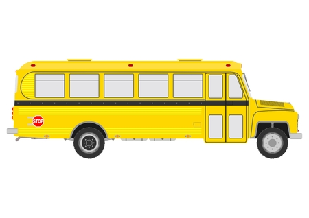 Vintage school bus Vector