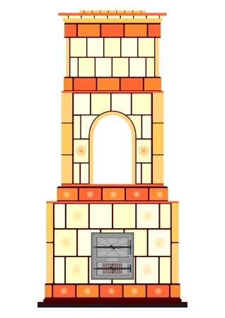 Traditional masonry heater Vector