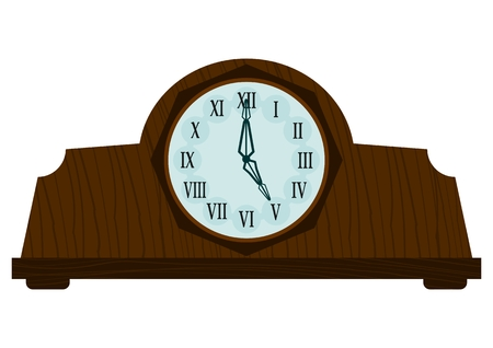 Vintage wooden clock Vector