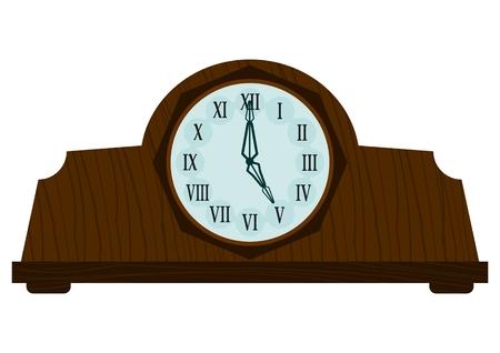 big timer: Vintage wooden clock