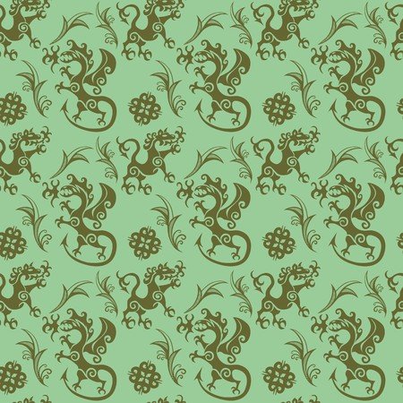 Early medieval seamless pattern