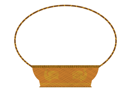 gift basket: Retro wicker basket Illustration
