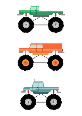 big foot: Monster truck set Illustration
