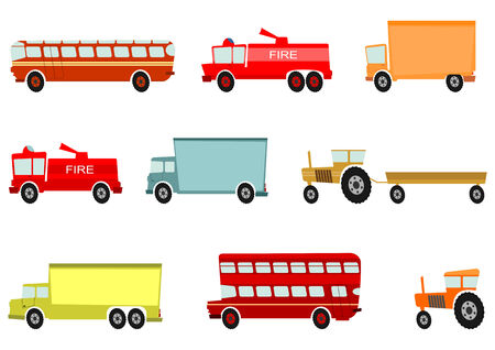 cartoon truck: Cartoon truck and other heavy vehicles