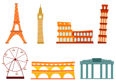 Cartoon european buildings Stock Vector - 24167815