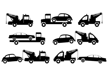 the wrecker: Tow truck silhouettes
