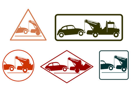 Tow truck srubber stamps Vector