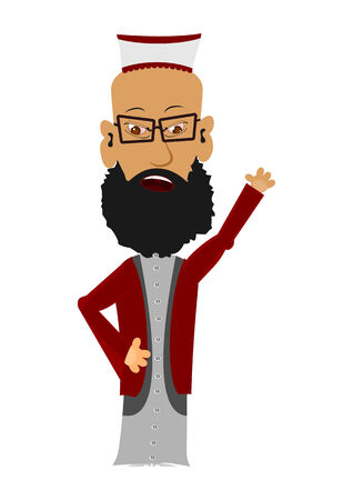Cartoon imam on a white background  Easy to add to any design