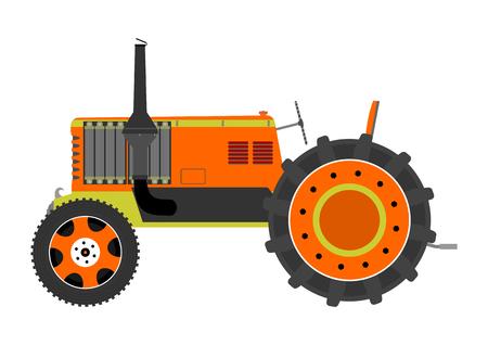 Silueta de un tractor de la vendimia en un fondo blanco Foto de archivo - 25516996