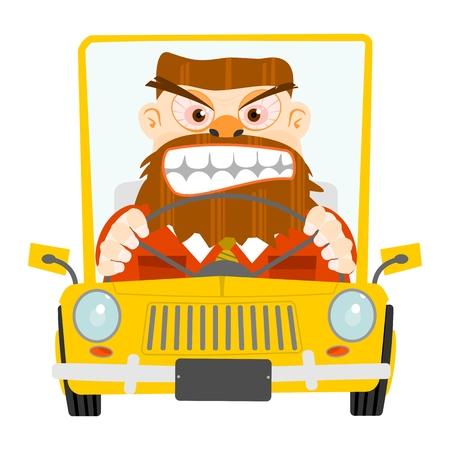 道路怒りの図  イラスト・ベクター素材