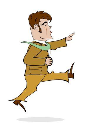 Running man illustration  Vector