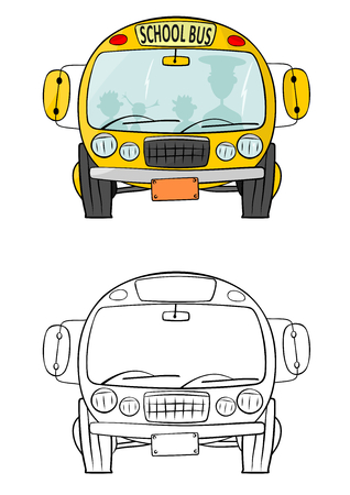 School bus coloring page illustration Stock Vector - 25517079