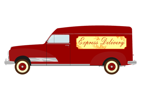 Vintage commercial car Vector