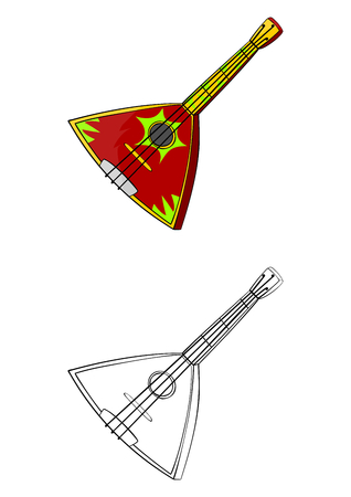Balalaika  Traditional ukrainian or russian musical instrument  Vector