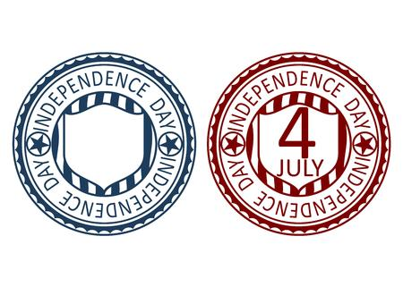 Inependence day stamp Vector