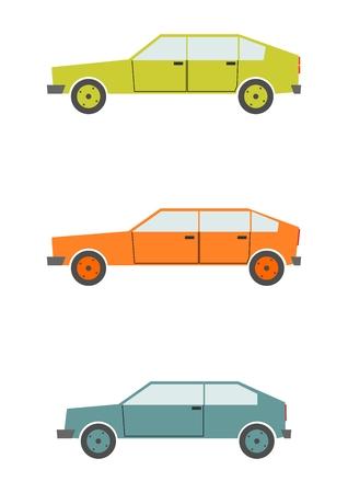 Silhouettes of retro cars  Vector